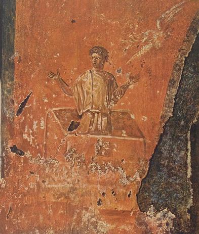 Ной.Фреска катакомбы Присциллы.