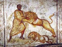 Юноша во рву со львами.
