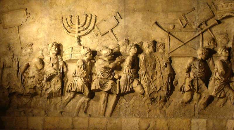 Рельефы триумфальной арки Тита на римском Форуме