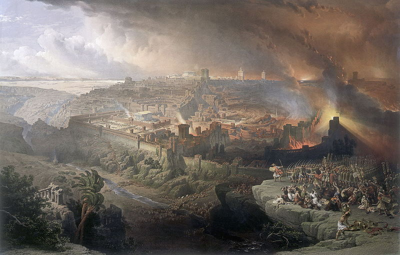 Осада и разрушение Иерусалима римлянами под командованием Тита, 70 год. Дэвид Робертс, масло, 1850
