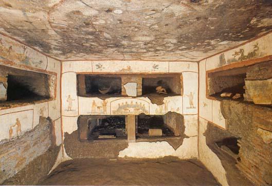Фрески в катакомбах Каллисто