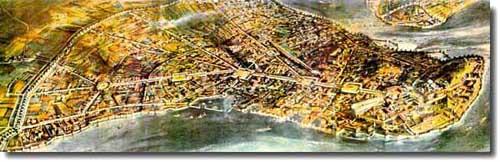 Византия. План Константинополя.