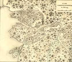 План Санкт-Петербурга 1705 г.