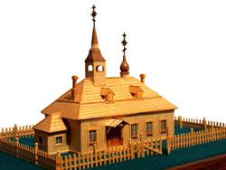 Модель первой Исаакиевской церкви