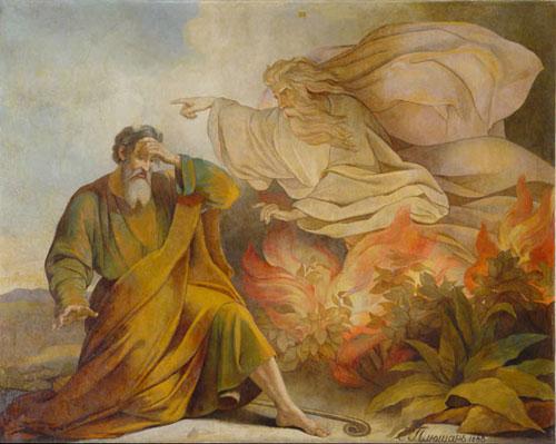 Э.Плюшар. Бог является Моисею в купине неопалимой