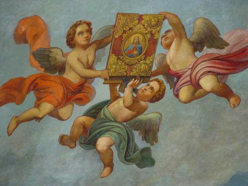 П.Шамшин. Ангелы, держащие св. Евангелие