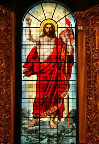 Воскресение Христа. Витраж главного иконостаса