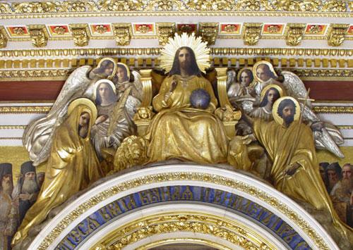 П.Клодт, Т.Нефф. Христос во славе. Скульптурная группа над Царскими вратами
