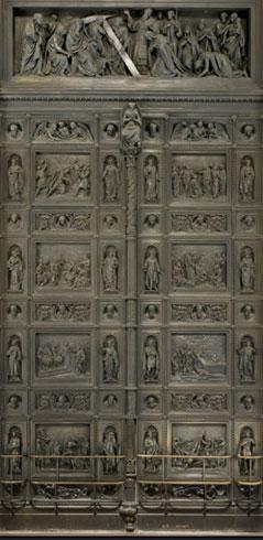Большие западные внутренние двери. Скульптор И.Витали