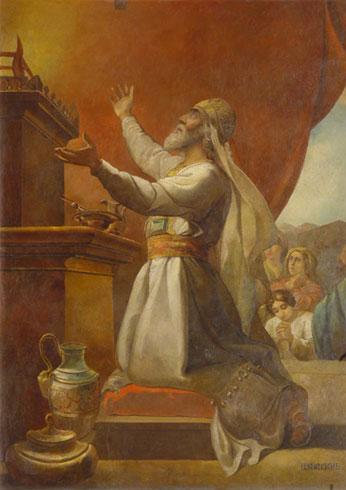 П.Шамшин. Аарон, приносящий жертву Богу