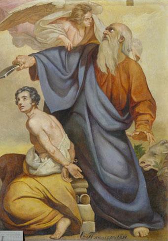 Э.Плюшар. Авраам, приносящий в жертву Исаака