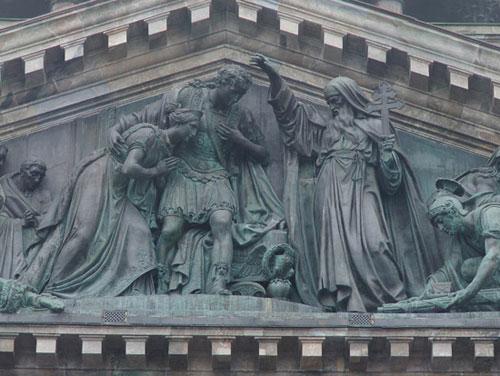 И.Витали. Исаакий Далматский благословляет на царствование императора Феодосия