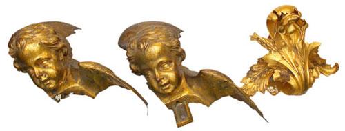 Вариант скульптурного оформления Исаакиевского собора (лист аканта, головка херувима)