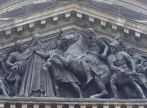 Ф.Лемер. Встреча Исаакия Далматского с императором Валентом