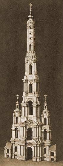 Колокольня. Деталь модели Смольного монастыря