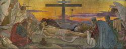 Положение во гроб. Мозаика по эскизу В.В.Беляева