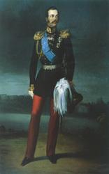 Е.И.Ботман. Портрет Александра II. 1856. Государственный Русский музей
